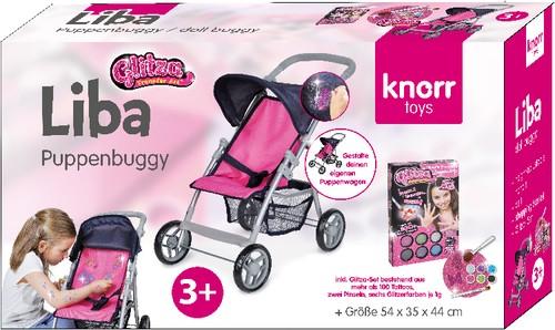 Puppen-Buggy Liba mit Glitza-Set 33-59 cm