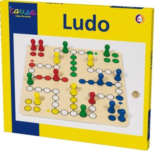 Brettspiel Ludo 50x50 cm Birkenholz
