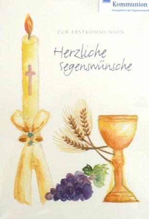 Grusskarte Kommunion Kerze Glückwunschkarte