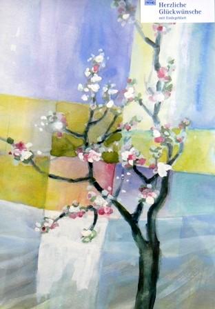 Grusskarte Blütenzweig Glückwunschkarte allgemein