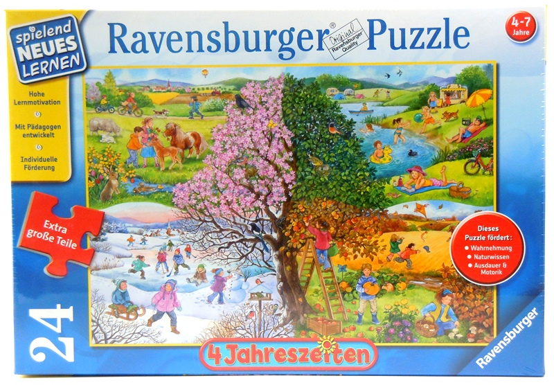 ravensburger puzzle 4 jahreszeiten naturpuzzle f r kinder geschenke. Black Bedroom Furniture Sets. Home Design Ideas