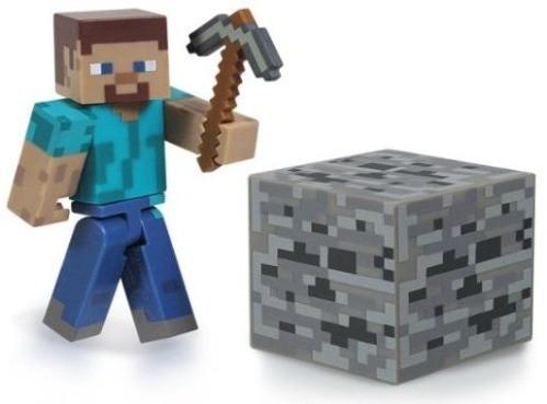 Minecraft Steve Figur mit Zubehör B-Ware OVP
