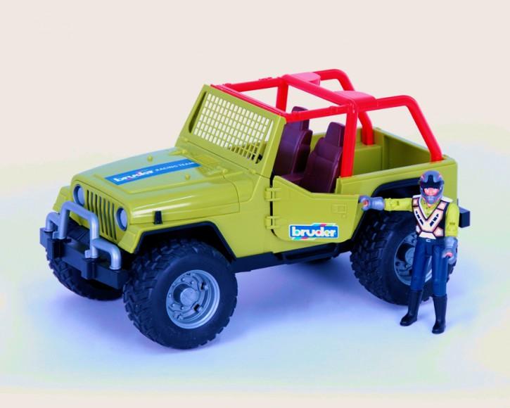 BRUDER Jeep Cross Country Racer grün m. Fahrer B-Ware OVP