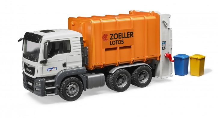BRUDER MAN TGS Müll-LKW Hecklader 4+j