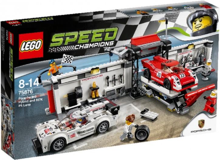 LEGO Speed Champions 75876 Speed Porsche 919 Hybrid & 917K Pit Lane B-Ware