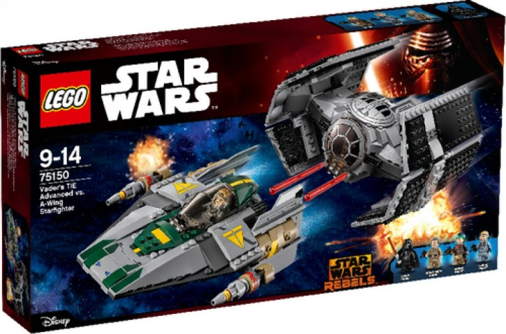 Lego SW 75150 Vaders TIE Advanced vs A-Wing Starfighter
