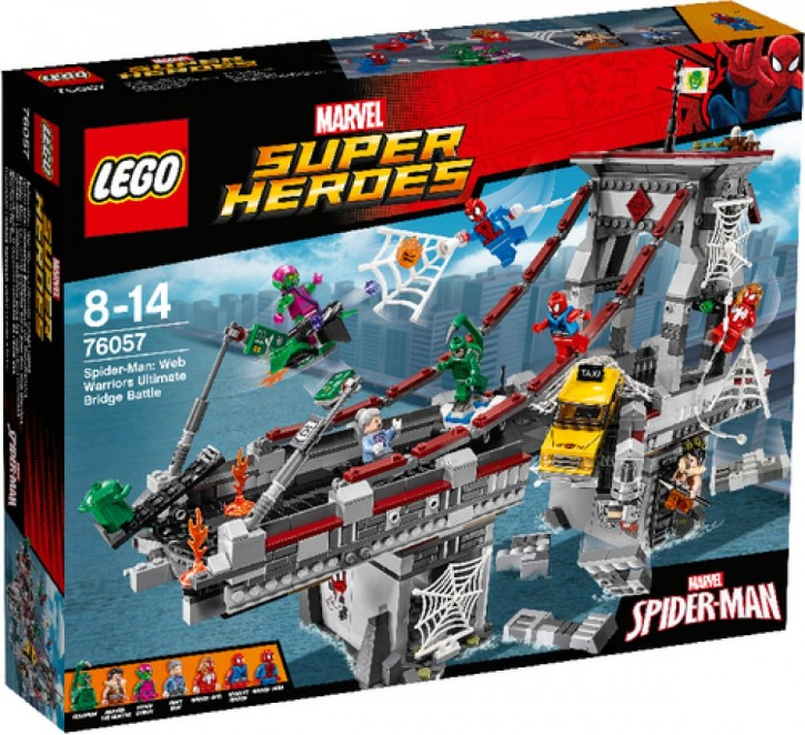 Lego 76057 Marvel SH Spider-Man Ultimatives Brückenduell der Web-Warriors B-Ware OVP