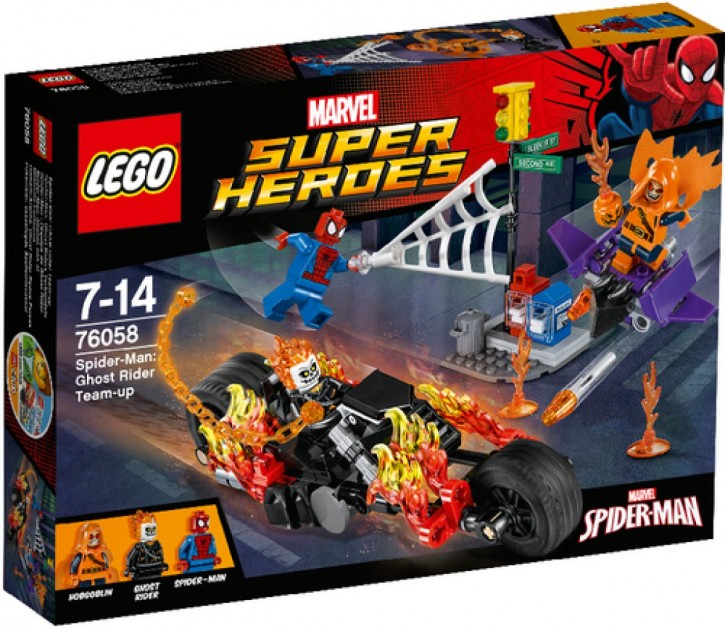 Lego 76058 Marvel SH Spider-Man Ghost Riders Verbündete B-Ware OVP