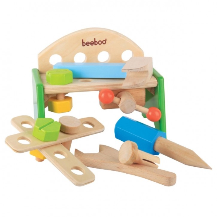 Beeboo Werkbank aus Holz 12teilig