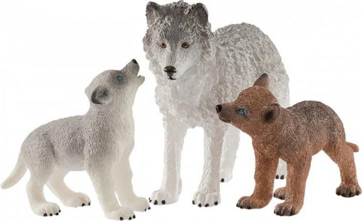 Schleich Wild Life 42472 Wolfsmutter mit Welpen