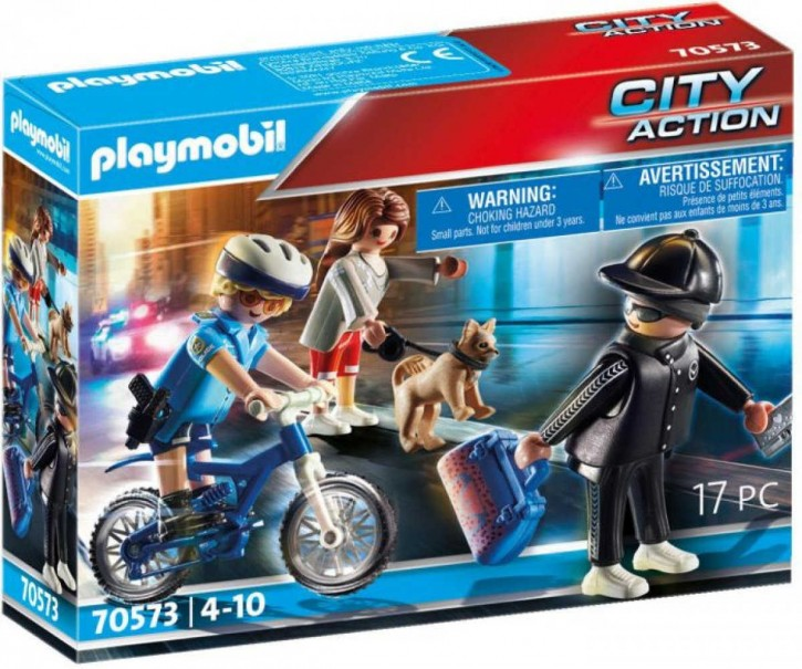 Playmobil® 70573 Polizei-Fahrrad Verfolgung des Taschendiebs