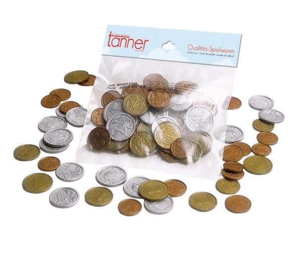 Kaufladen Spielgeld Euro Münzen sortiert