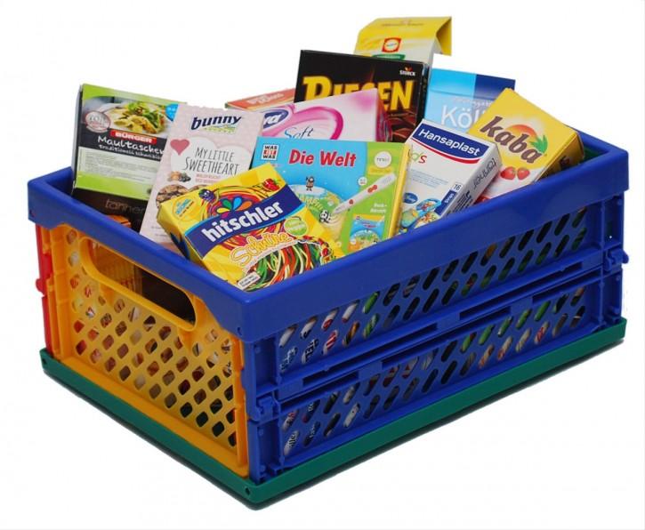 Kaufladen Mini-Klapp-Box mit Miniaturfaltschachteln B-Ware OVP