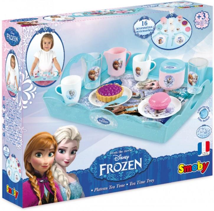 Disney FROZEN Die Eiskönigin Teeservice m. Serviertablett 16teilig B-Ware OVP