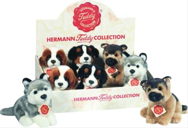 Teddy Hermann Hunde sitzend 15 cm sort.