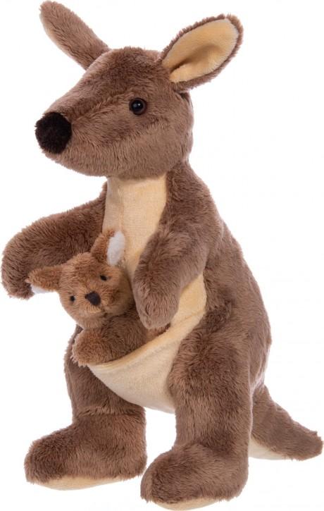 EBO Känguru mit Jungem 22 cm Plüsch