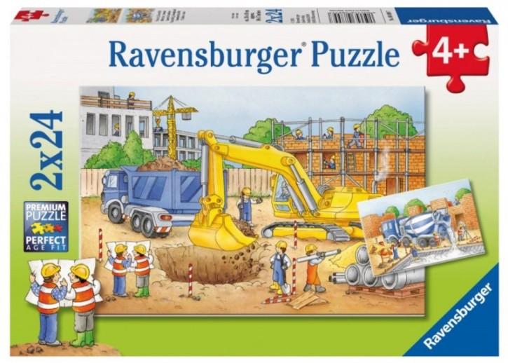Ravensburger Puzzle Vorsicht Baustelle 2x24 B-Ware OVP