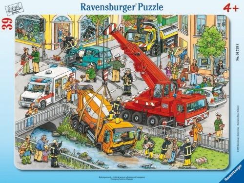 Ravensburger 67688 Rahmenpuzzle Rettungseinsatz 39 Teile