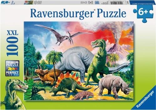 RV Puzzle Unter Dinosauriern 100 Teille XXL
