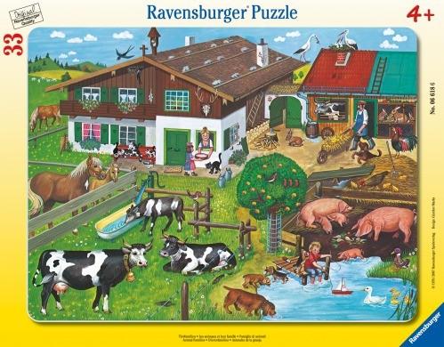 Ravensburger 66186 Rahmenpuzzle Tierfamilien 33 Teile