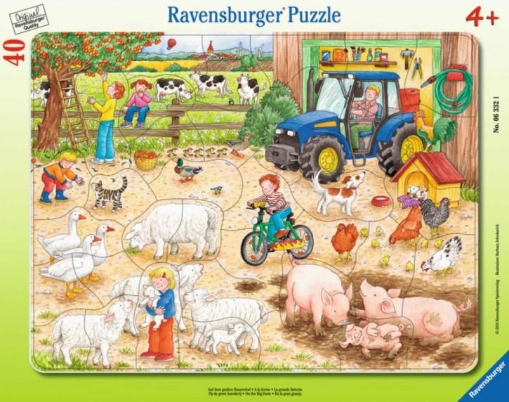 Ravensburger 06332 Rahmenpuzzle Auf dem großen Bauernhof 40 Teile