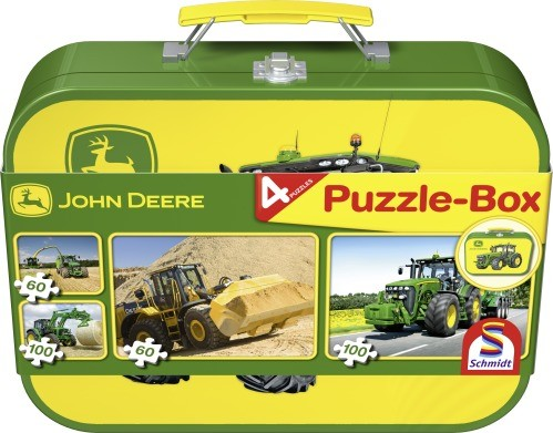 Puzzle John Deere im Metallkoffer 2x60+2 x100 Teile B-Ware OVP