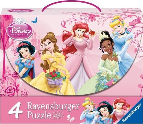 Puzzle Prinzessinnen im Rosengarten 4er Puzzlekoffer ab 5 J.