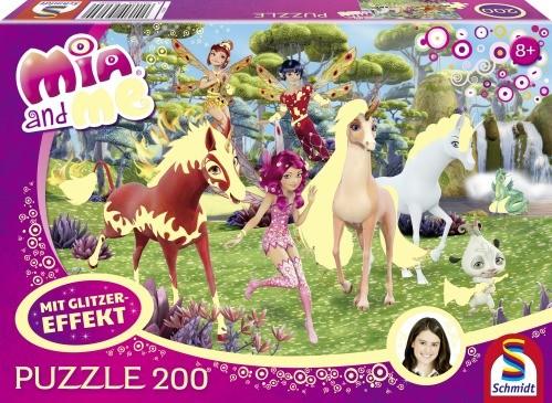 Puzzle Mia and me In Centopia 200 Teile Glitzer