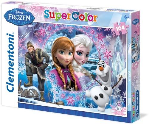 Puzzle Disney FROZEN Die Eiskönigin Motiv II 104 Teile B-Ware OVP