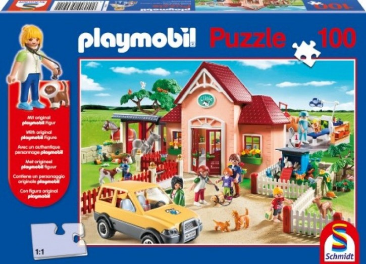 Playmobil Puzzle Tierarztpraxis 100