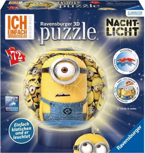 Ravensburger 3D Puzzle-Ball Nachtlicht Minions 72 T.