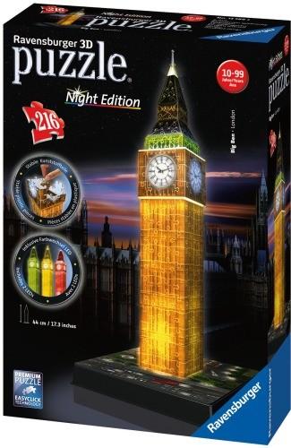 Ravensburger 3D Puzzle Big Ben bei Nacht B-Ware OVP