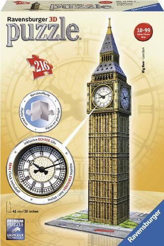 Ravensburger 3D Puzzle Big Ben mit Uhr 216 Teile