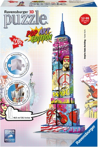 Puzzle 3D Empire State Building Pop-Art 216T. B-Ware OVP