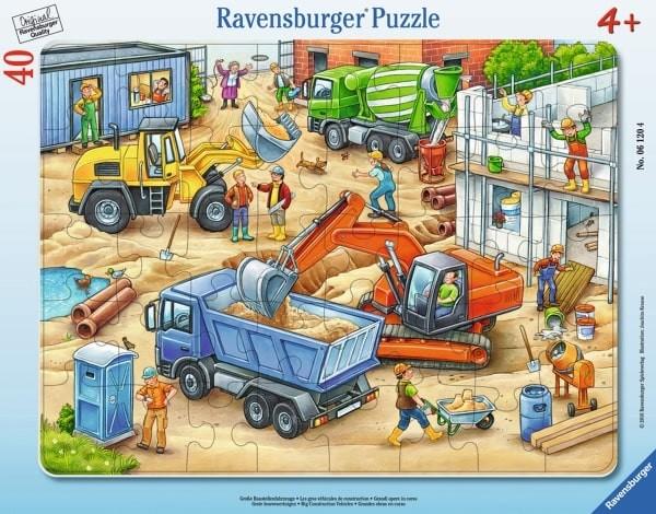 Ravensburger 06120 Rahmenpuzzle Große Baustellenfahrzeuge 40 Teile