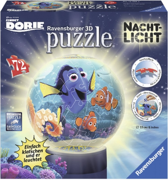 Ravensburger 3D Puzzle-Ball DORY Nachtlicht 72 Teile