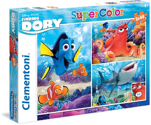 Puzzle Disney Finding DORY 3x48 Teile