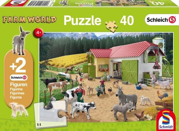 Schleich Puzzle Ein Tag auf dem Bauernhof 40T B-Ware OVP
