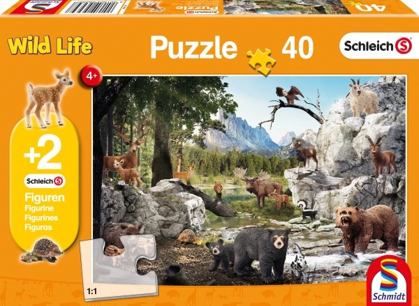 Schleich Puzzle Die Tiere des Waldes 40T B-Ware OVP