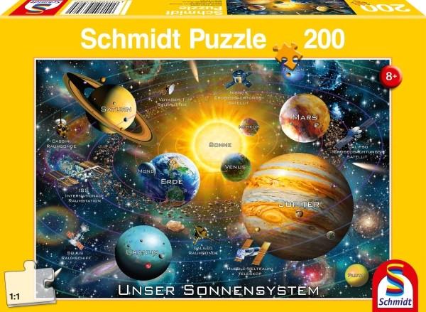 Schmidt Spiele Puzzle Unser Sonnensystem 200 Teile B-Ware OVP