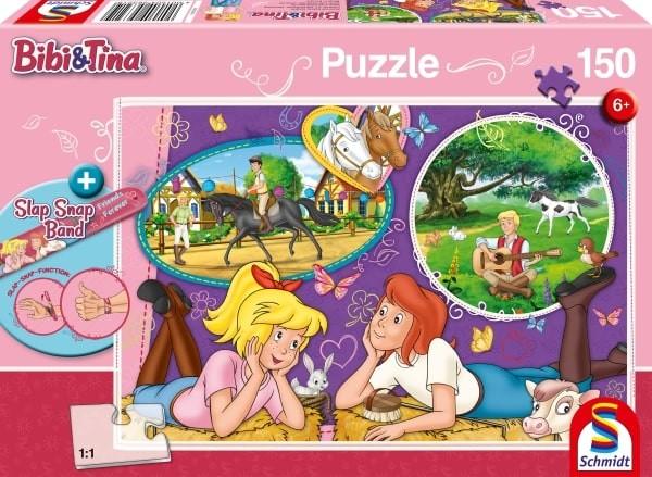 Schmidt Spiele Puzzle Bibi und Tina Freundinnnen für immer 150 Teile mit Slap-Snap-Band B-Ware OVP