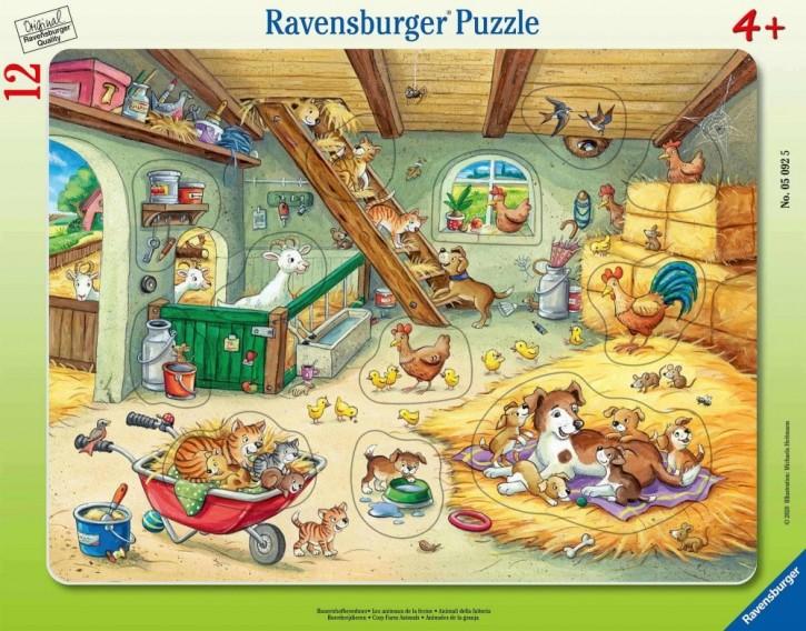 Ravensburger 05092 Rahmenpuzzle Bauernhofbewohner 12 Teile