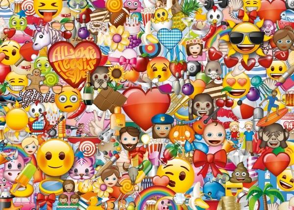 RV Puzzle  Emoji 1000 Teile B-Ware OVP