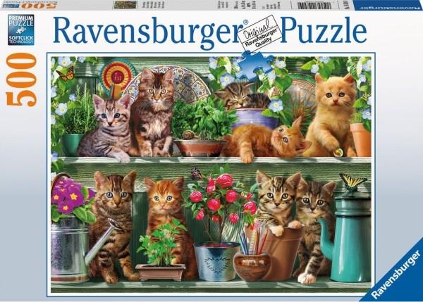 RV Puzzle Katzen im Regal 500 Teile B-Ware OVP
