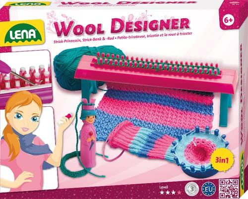 LENA Wool Designer Strickbank mit Strickprinzessin 3-in-1 B-Ware OVP