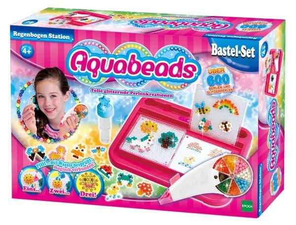 Aquabeads Regenbogenstation 600 Perlen B-Ware OVP
