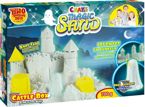Magic Sand Glow Castle Box 700g Knetsand B-Ware OVP