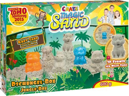 Magic Sand Dschungel-Box 600g Knetsand