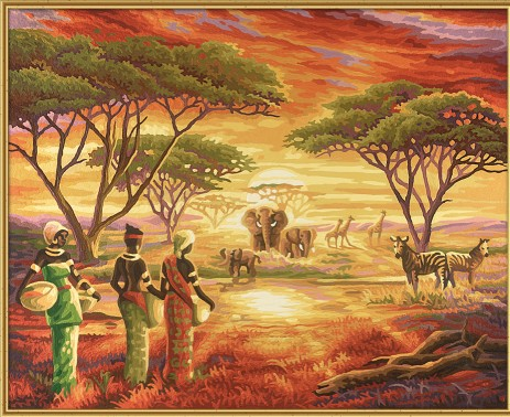 MNZ Malerisches Afrika 40 x 50 cm Lagerräumung