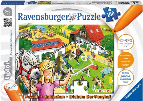 tiptoi® Puzzle Ponyhof 100 Teile B-Ware OVP